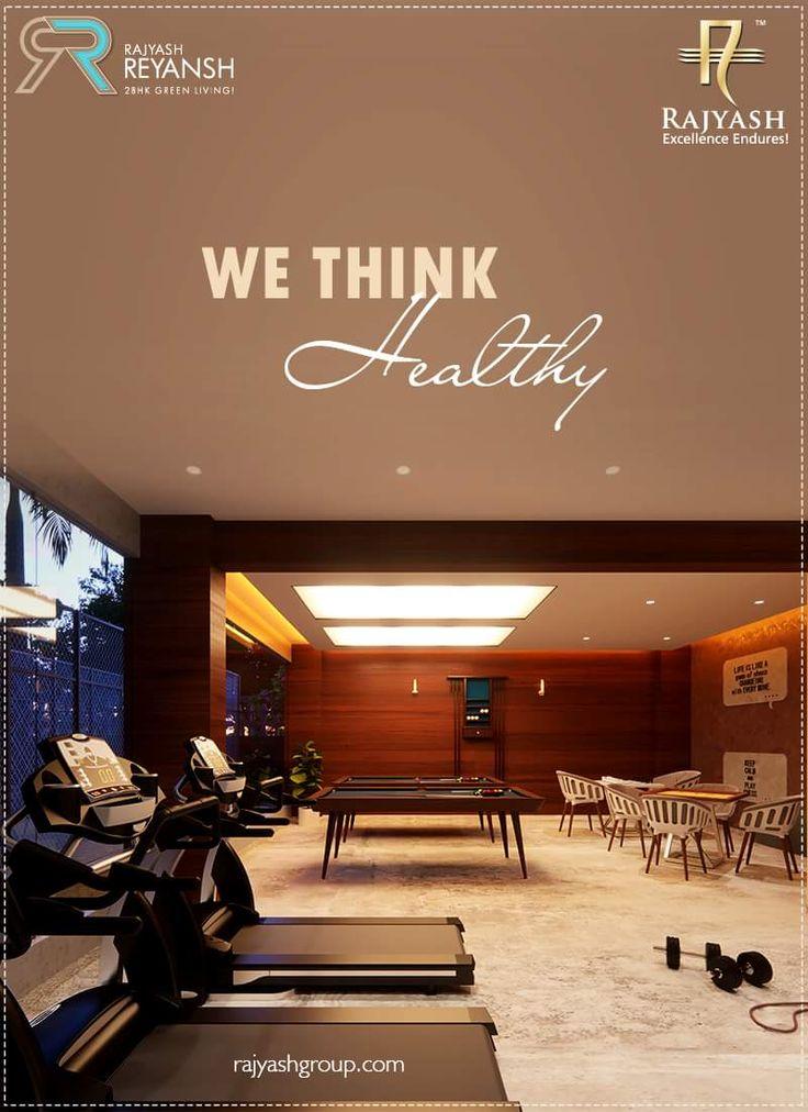 Fitness is not a destination; it is a way of life. Your Health is Your Wealth.   #RajYashReyansh #SampleHouse #RajyashCity #RajYashGroup #RajYash #SouthVasna #Ahmedabad