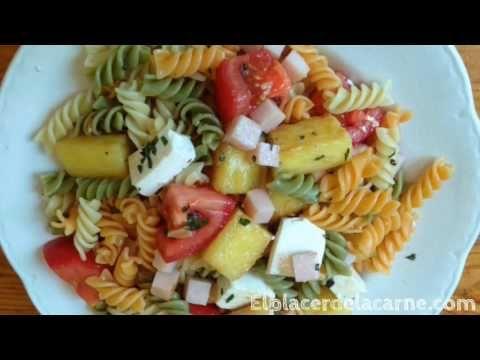 Ensalada para Fiestas Rapido y Nutritivo / Ensalada de Piña, Jamon y Pasta - YouTube