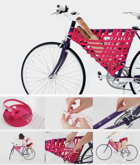 From discarded strap to bike-bag #reuse #upcycle