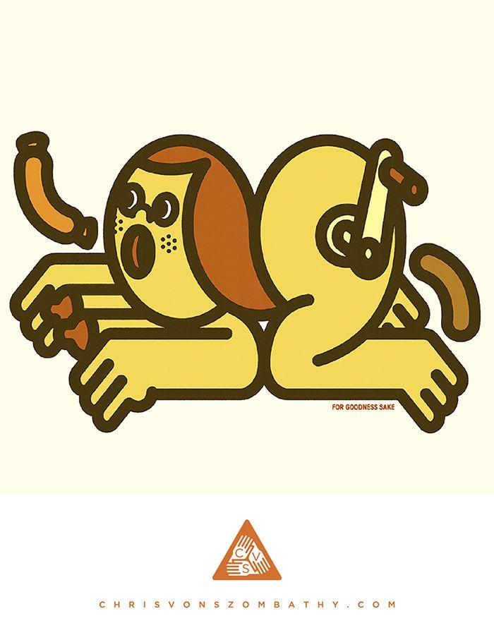 """For Goodness Sake"" an illustration by artist/designer Chris von Szombathy."