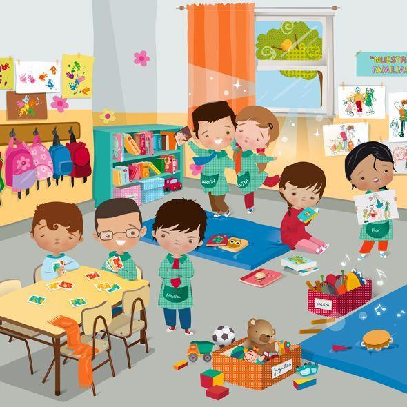 La classe | Drawing for kids, Kindergarten, Classroom (590 x 590 Pixel)