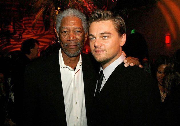 Image result for Morgan Freeman and Leonardo DiCaprio,