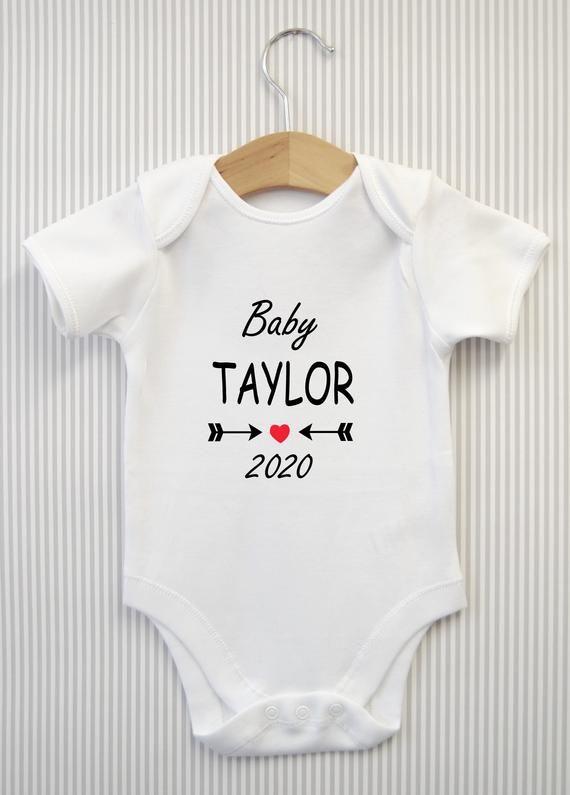 Personalised Baby GrowBoysGirlsCustom Baby growBabies Personalized