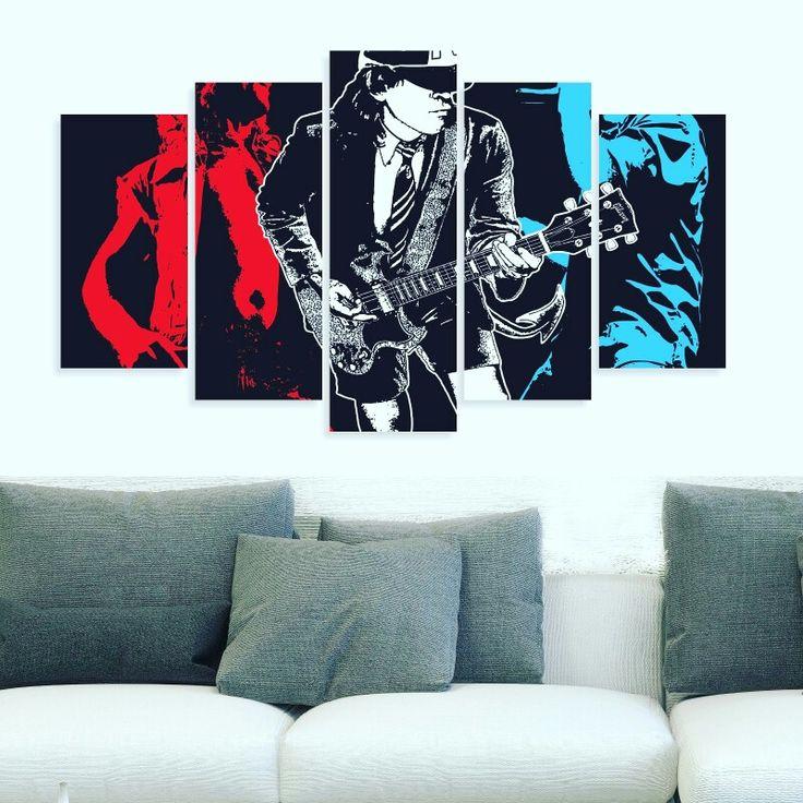 100x60 cm 5 parça dekoratif tablo 40,TL 🚚 Kargo alıcıya aittir 💟3 adet ve üstü kargo ücretsizdir 👍Kapıda ödeme KİŞİYE ÖZEL TABLO YAPIYORUZ 50₺ 📝Sipariş için Dm veya WhatsApp'tan 0542 398 07 51 #duvarsüsü #tablo #tasarim #hediye #hediyelik #sanat #rock #ev #alışveriş #pano #ac/dc