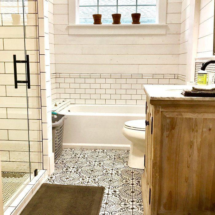 Bathroom Floor Ideas With White Subway Tile