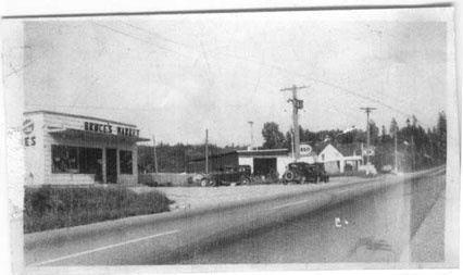 How it used to be 'round here. Bruce's Market in Albion, along the river in what is now Maple Ridge, B.C.