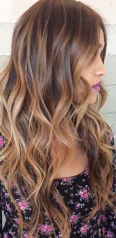 Long Brunette Hair With Blond Highlights
