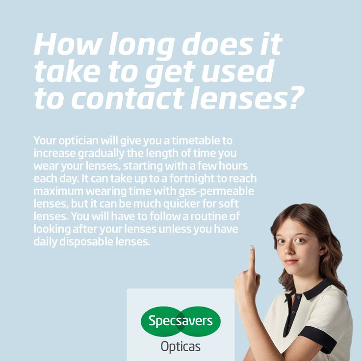 How long does it take to get used to contact lenses