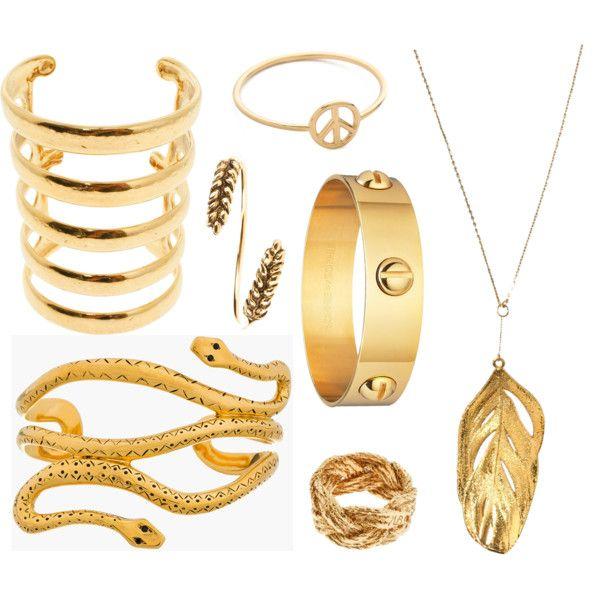 """Golden Gifts"" by stockholmmarket on Polyvore"