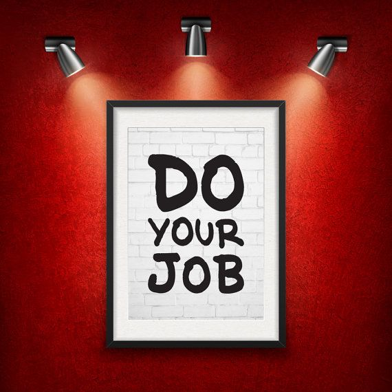 Do Your Job Inspirational Quote DIGITAL от MotivationalThoughts