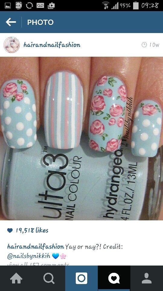 Cath kidston nail designs