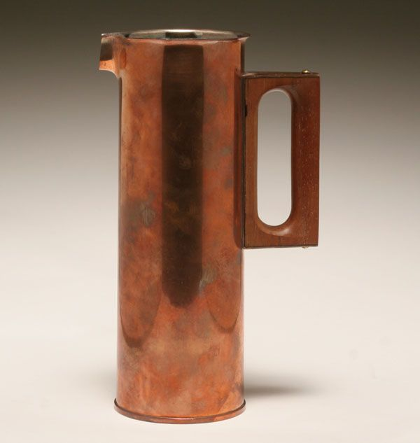 Finnish copper pitcher designed by Tapio Wirkkala; |Pinned from PinTo for iPad|