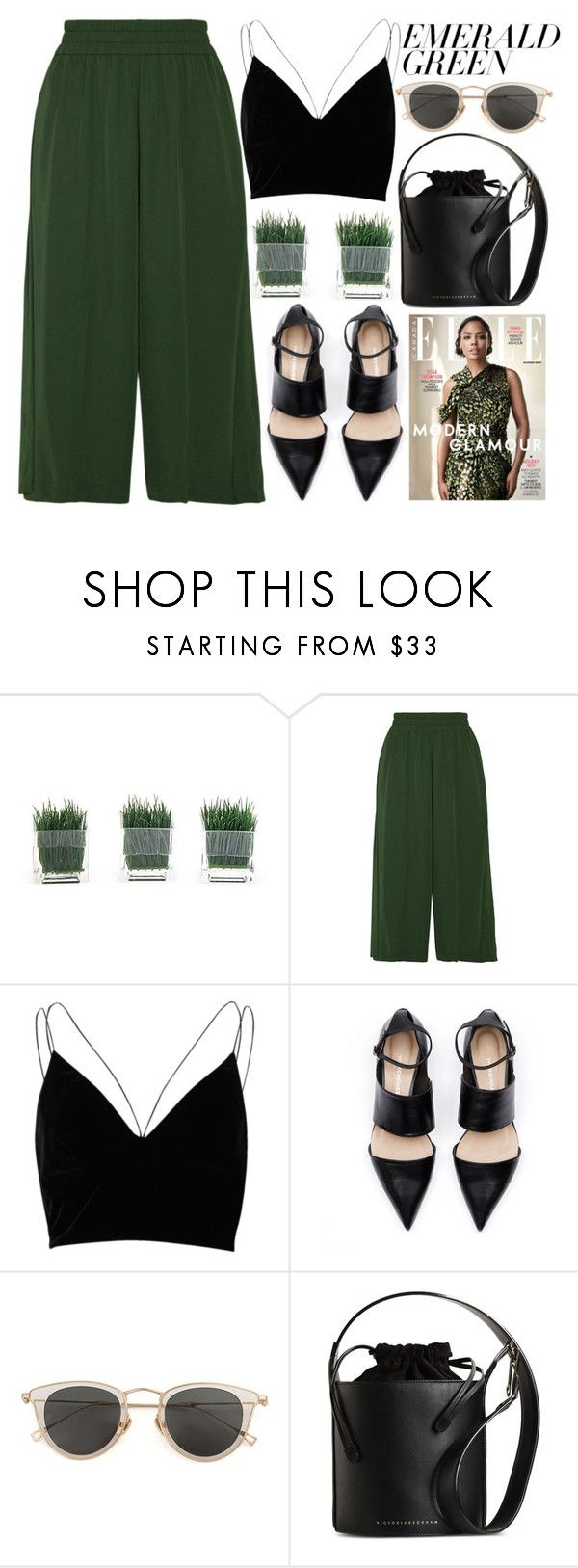 """""""EMERALD"""" by evangeline-lily on Polyvore featuring Acne Studios, River Island, Issey Miyake, Victoria Beckham and emeraldgreen"""