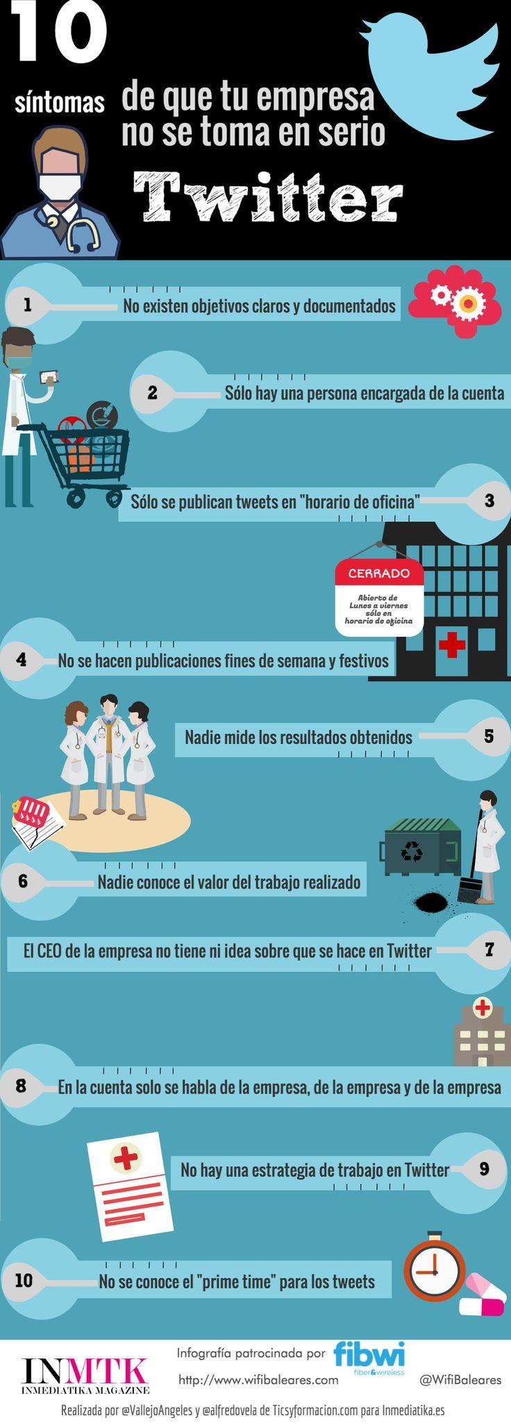 10 síntomas de que tu empresa no se toma en serio Twitter #infografia