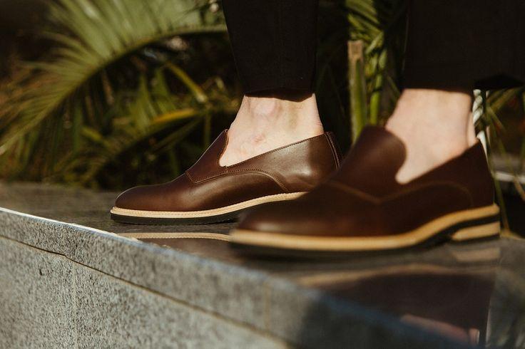 Stig 3 Bottle Green - Men's Loafers from Swedish footwear label Stig Percy