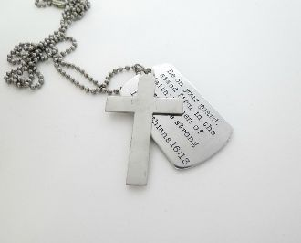 father's day necklace engraved