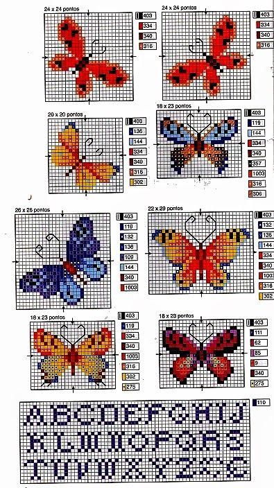 farfalle+e+fiori+a+punto+croce+(7).jpg (395×704)