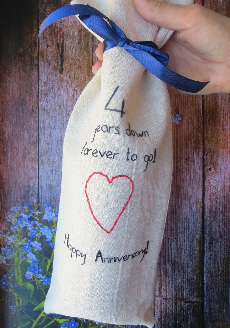 4th Wedding Anniversary Gift Ideas For Men: B-4th Wedding Anniversary Gift For Him Linen Gifts Men 4th