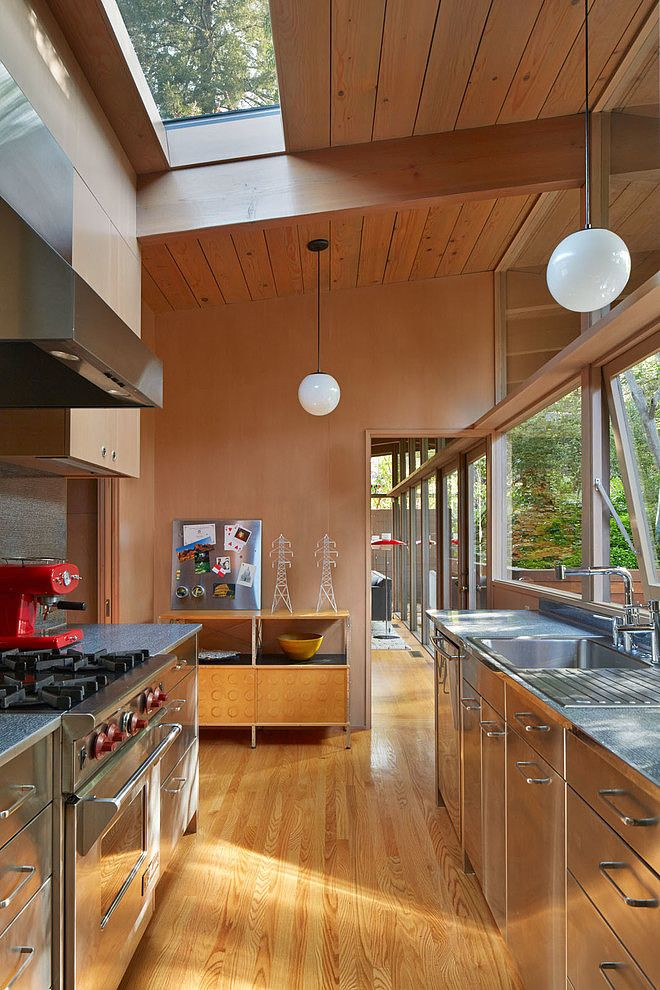 kitchen midcentury interior - photo #20