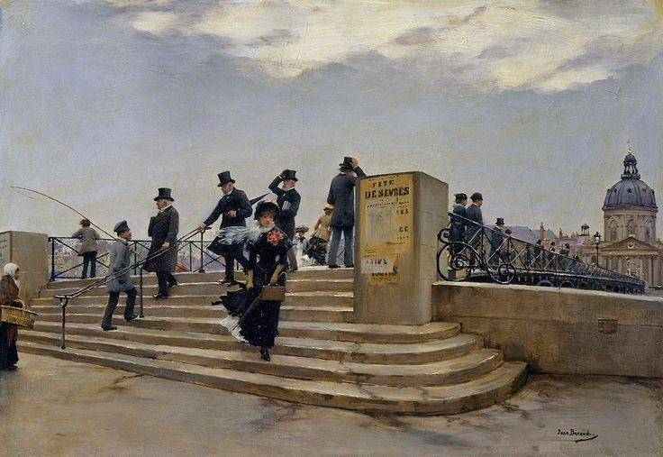 Galerii de arta: Jean Béraud (12 ianuarie 1849 – 4 octombrie 1935), pictor francez,  A Windy Day on the Pont des Arts