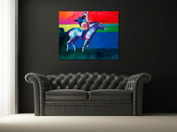 Fine contemporary canvas prints are always available on John Nieto's online gallery (Sink or Swim, canvas, 24x30)