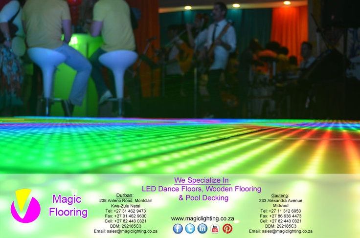 LED Dance Floor   Image Copyright of Magic Flooring   For info contact Magic Lighting on   +27 31 462 9473 / sales@magiclighting.co.za