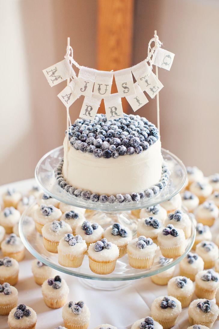Buttercream and Blueberry Wedding Cake | Sugar Bakeshop https://www.theknot.com/marketplace/sugar-bakeshop-charleston-sc-583374 | Riverland Studios https://www.theknot.com/marketplace/riverland-studios-johns-island-sc-541916