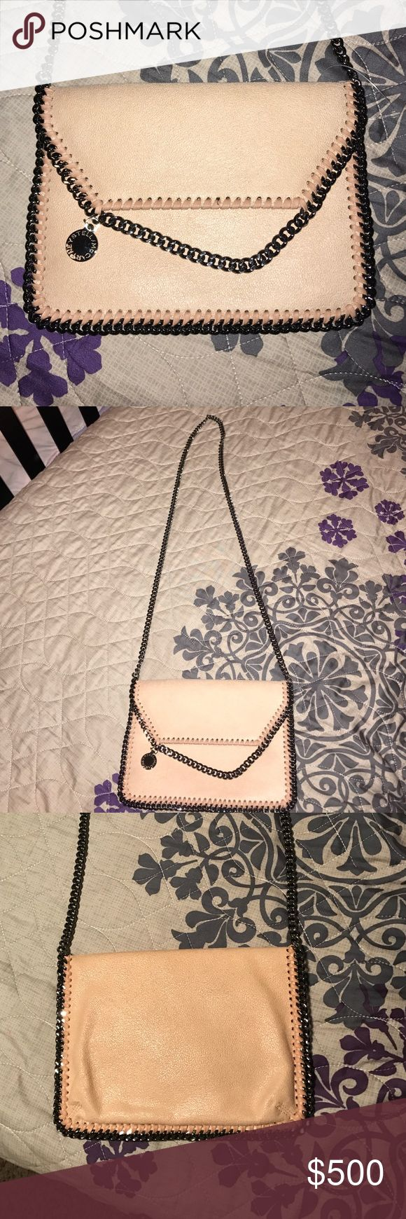 """New!! Stella Mcartney bag New without tags/ Mini Falabella """" shaggy deer"""" Faux leather crossbody bag / powdered pink color. No scratches no stains. Feel free to make an offer. Stella McCartney Bags Crossbody Bags"""