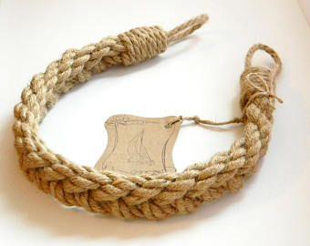 Natural Jute Rope - Curtain Tiebacks-Chunky Braided-Pigtail of four ropes - shabby chic windows - curtain holdbacks - rope ties