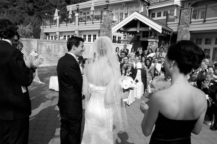 Love the angle on this picture from a wedding at Poets Cove Luxury Spa Resort & Marina, Pender Island BC