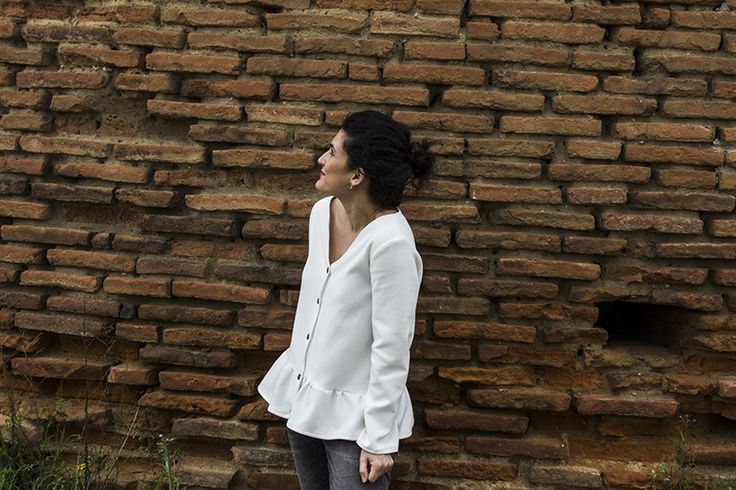 anabelle modifiée version blouse boutonnée à basque