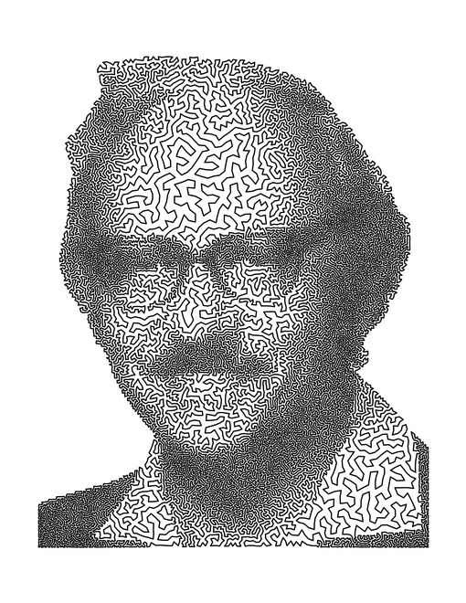 TSP Art -George Dantzig (1914-2005) was the father of linear programming and the inventor of the Simplex Method, the most widely used algorithm for solving linear programs