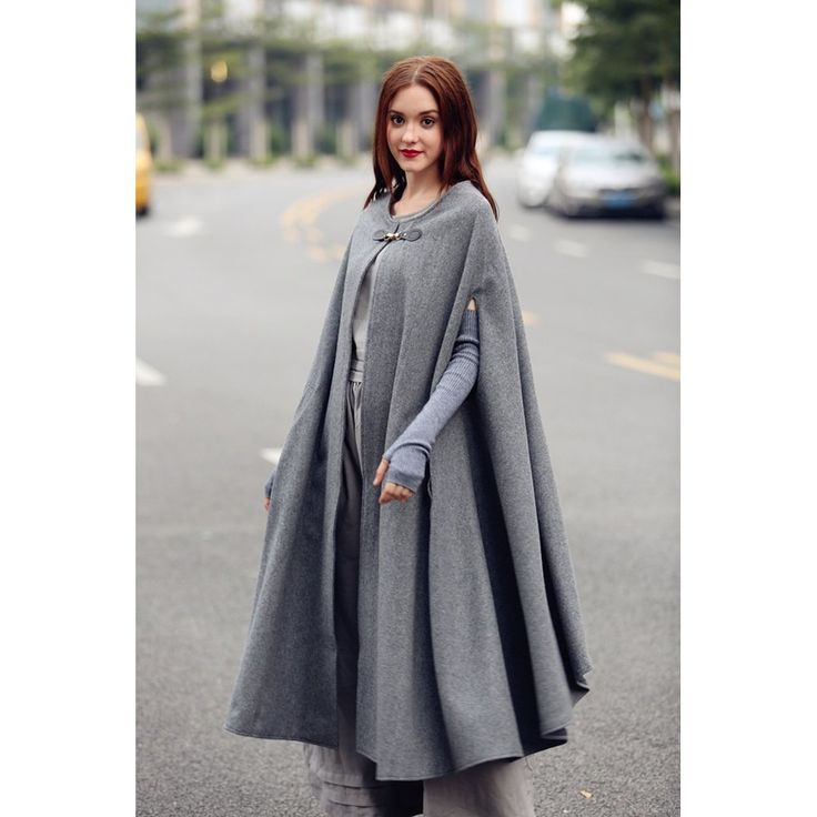 Maxi Wool Cape Poncho – Polka Dotted All The Things Boutique