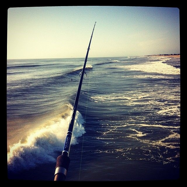 Fishing on jennette 39 s pier obx outerbanks outer banks for Surf fishing outer banks