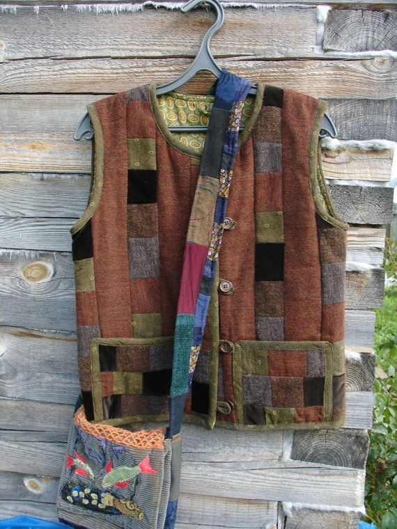 patchwork jacket by SKOROPOSLUSHNITSA on Etsy