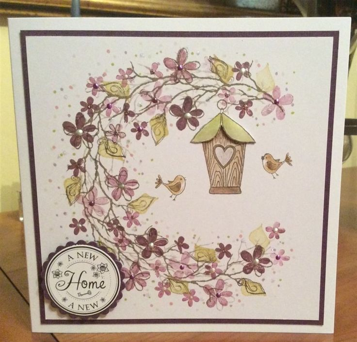 New Home | docrafts.com. Card-io/Tapestry stamps.