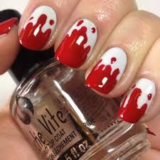 Image result for blood nail design