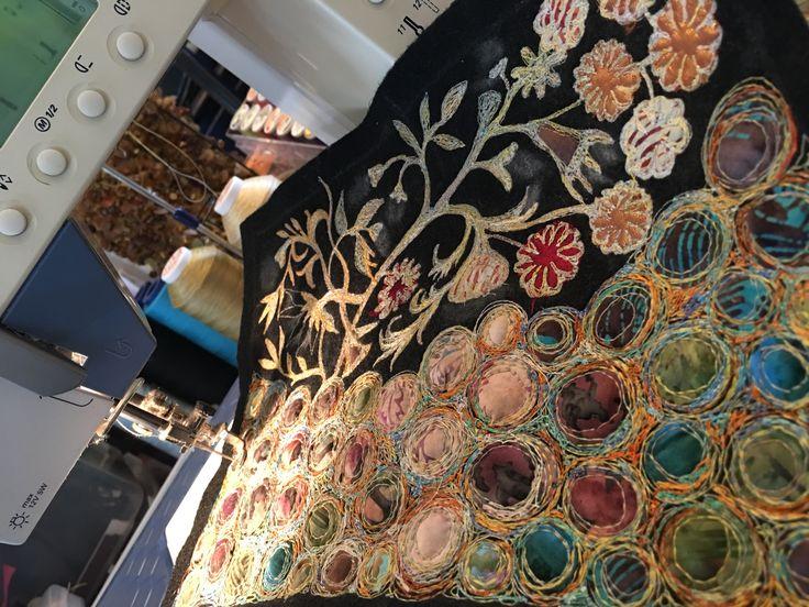 Gordana Brelih... machine stitching on felt...ready for beading