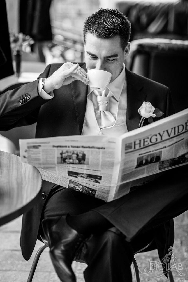 morning coffee, #coffee, #bw, #newspaper, #wedding http://www.digilab.hu