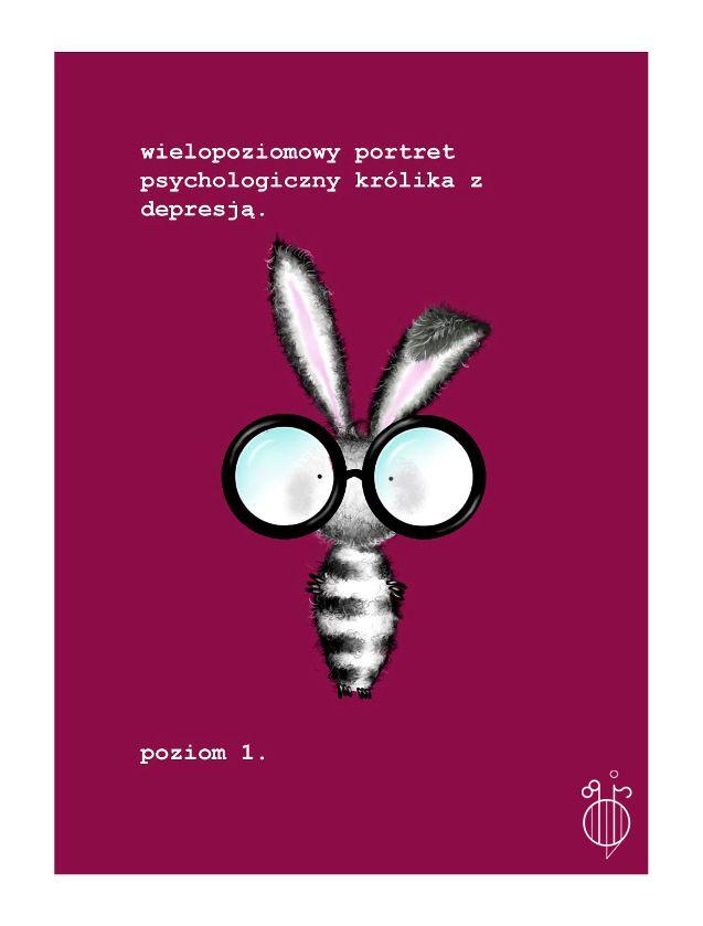 Wielopoziomowy portret psychologiczny królika z depresją. Poziom 1 by ColoradoBeetle89