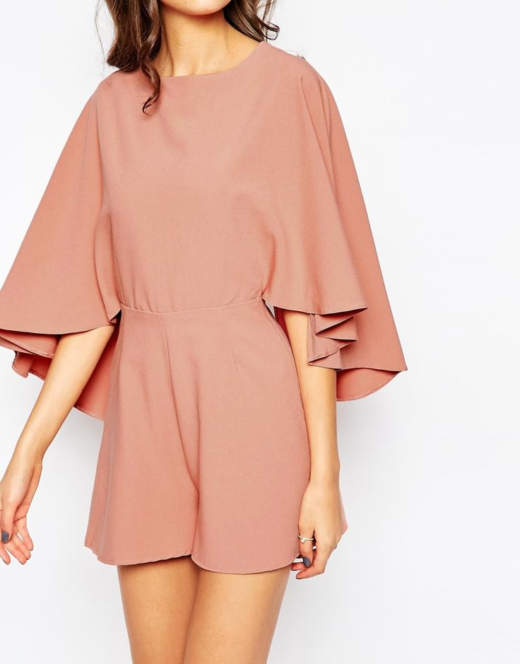 ASOS TALL Playsuit with Cape Sleeve. $76 Reg. $46 Sale