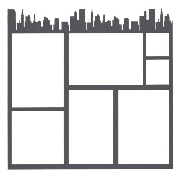 15 A Frames I D Like To Visit: Travel City Top Border 12 X 12 Overlay Laser Die Cut (15
