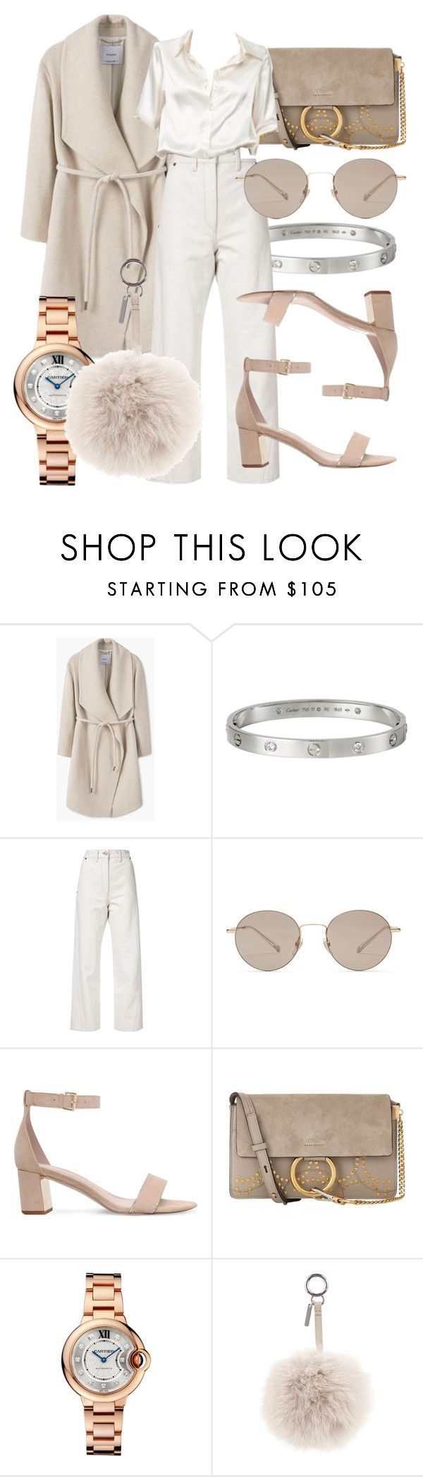 """#Look:#379"" by dollarwomanlux ❤ liked on Polyvore featuring MANGO, Cartier, Lemaire, Gucci, Carvela, Chloé, Brandy Melville and Fendi"