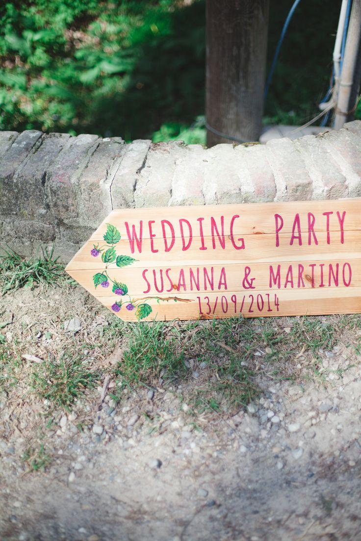 Segnaletica da matrimonio!