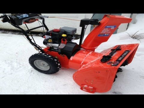 (11) Ariens 28 Deluxe Snow Blower 12.5 254cc With Auto-Turn - Customer Review - Demonstration - YouTube