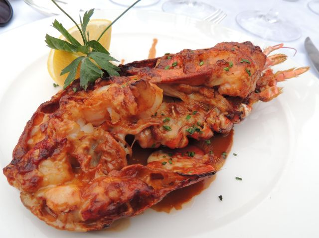 Lobster thermidor at The Priory in Wareham > http://saltandpepperpots.wordpress.com/2013/10/20/pic-lobster-on-the-river/