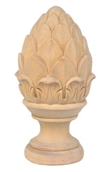 5 Quot Artichoke Finial Stair Hand Carved Wood Products