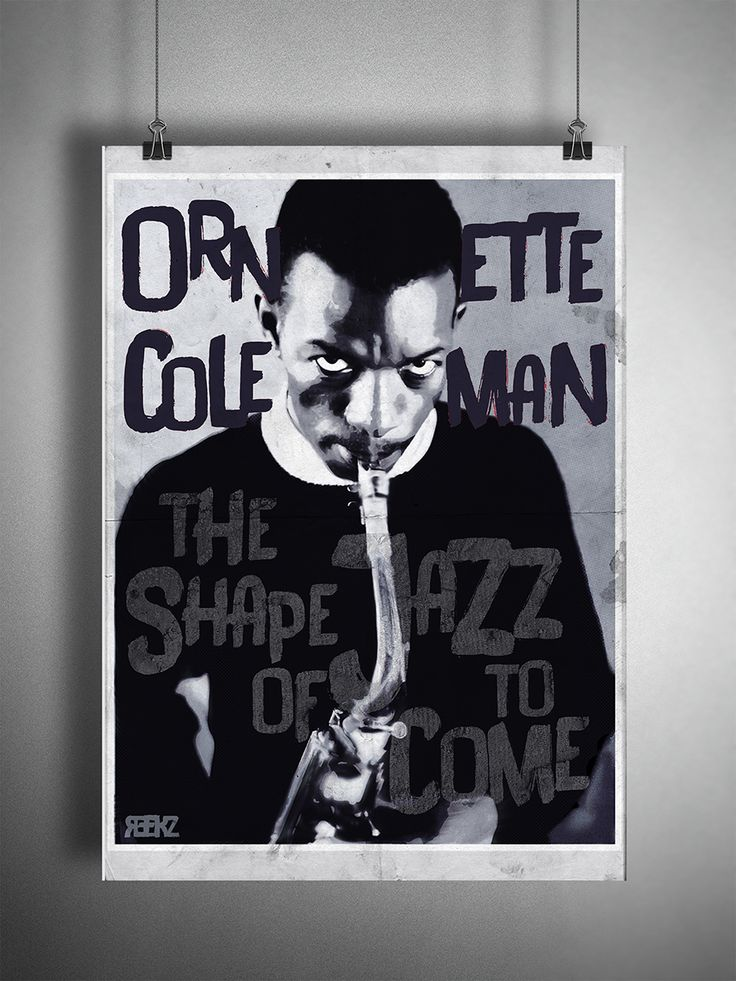 Ornette Coleman Poster - The Shape of Jazz to come