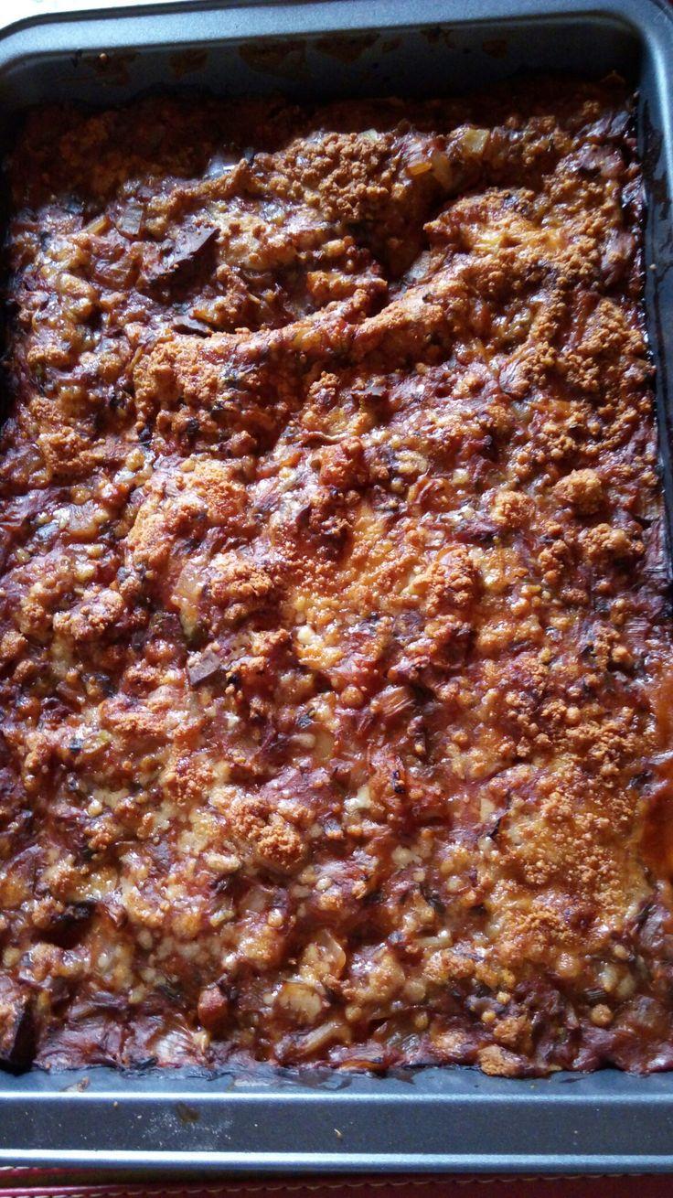 Lasagna con masa integral
