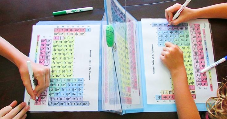 This creative mom makes periodic table battleships to teach her kids chemistry